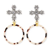 Molly Cross and Hoop Drop Earrings