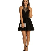 Stacy- Black Homecoming Dress