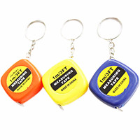 Tool Keychain-Most Popular Color Send R om Mini Cute 1Meter Measuring Tape Portable Tool Keychain Keyring SM6
