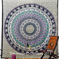 Hippie Elephant Tapestries, Large Size Tapestry Wall Hanging, Mandala Tapestries, Bohemian Tapestries, Wall Tapestries, Dorm Decor, Queen Bed Cover Bedding