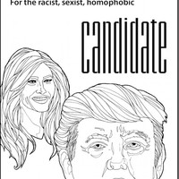 DIGITAL DOWNLOAD I Didn't Vote For Donald Trump Coloring Page, Adult Coloring For Democrats, Election Themed Anti Trump Coloring Download