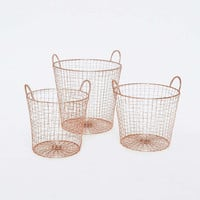 Copper Laundry Basket Set - Urban Outfitters