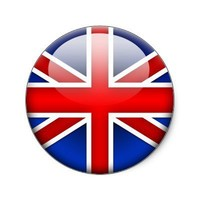 English Flag 2.0 Round Stickers from Zazzle.com