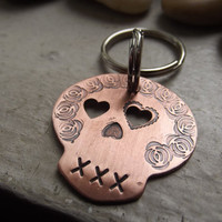 Sugar skull keychain, Ready to ship