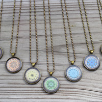 7 Chakra Necklaces Set - Beautiful Yoga Mandala Pendants for Chakra Healing Therapy