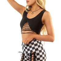 Vixen Crop Top in Black