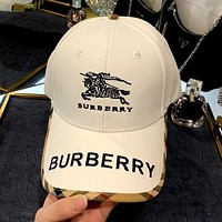 BURBERRY Simple New Embroidered War Horse Logo Baseball Cap
