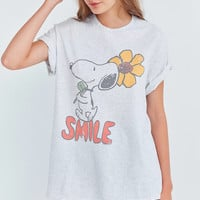 Junk Food Snoopy Smile Tee   Urban Outfitters