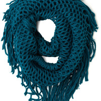 Show and Trellis Scarf in Teal | Mod Retro Vintage Scarves | ModCloth.com