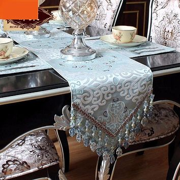 Modern Luxurious High Quality Table Runners Table Runner With Beads