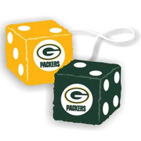 Green Bay Packers NFL 3 Car Fuzzy Dice
