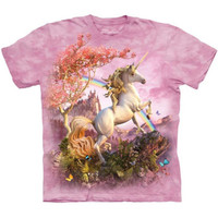 AWESOME UNICORN The Mountain Rainbow Castle Pink T-Shirt S-3XL NEW