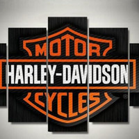Motor Harley Davidson Cycles Canvas Prints 5 Pieces Painting Wall Art Home Decor Panels Sport Poster For Living Room Frame
