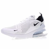 """NIKE Air Max 270 """"White&Ice Blue"""" Running Shoes Sneaker AH8050-001"""