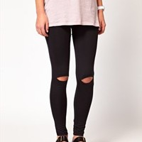 Cheap Monday Leggings With Split Knees at asos.com