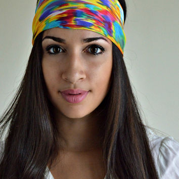 Colorful stretch head band, soft and stretchy