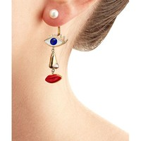Delfina Delettrez | Metallic 9kt Yellow Gold Earring With Pearl | Lyst