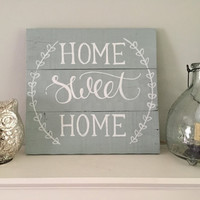 Rustic Home Decor, Home Sweet Home Sign ~ Rustic Pallet Sign, Hand Painted Pallet Sign, Customizable Rustic Pallet Sign