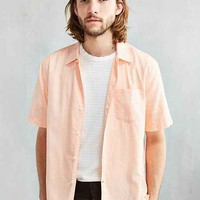 CPO Dobby Ticking Short-Sleeve Button-Down Shirt