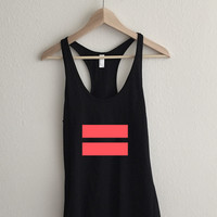 infrared Equality Symbol  Racerback Tank Top