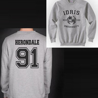 Herondale 91 IDRIS University Shadowhunters The Mortal Instruments Unisex Crewneck Sweatshirt