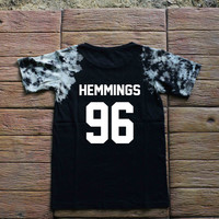 Luke Hemmings 5 Seconds of Summer Tie dye Shirt Tye Dye Shirt Black Shirt