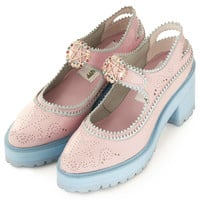 **CHUNKY PINK BROGUES BY MEADHAM KIRCHHOFF