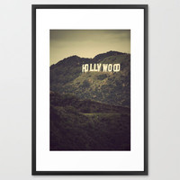 Old Hollywood Framed Art Print by CMcDonald | Society6