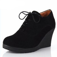 Ankle Wedges High Heel Shoes