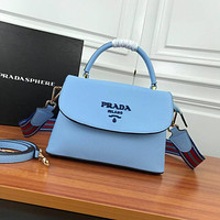 prada women leather shoulder bags satchel tote bag handbag shopping leather tote crossbody 293