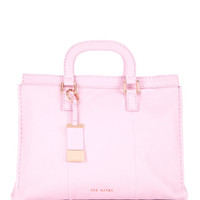 Leather stab stitch bag - Dusky Pink | Bags | Ted Baker UK