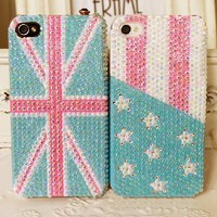 fashion the Union Jack/the Stars and the Stripes case for iphone 4/4s/5