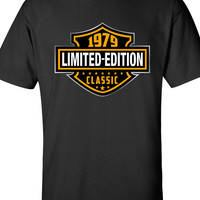 35th Birthday Shirt 1979, Limited Edition Classic B-day T Shirt Cool hipster swag mens womens ladies TShirt T-Shirt T Shirt Tee  - DT-607