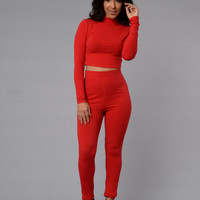 Leisure Leggings - Red