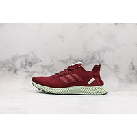 Adidas FutureCraft 4D Wine Red Running Shoes