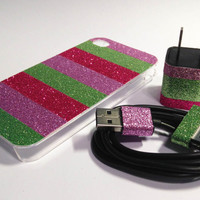 Vera Bradley Inspired iPhone Case USB Charger and by VanityCases