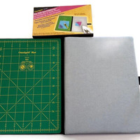 Omnigrid Tote Size FoldAway, Portable Cutting Mat, Pressing Station Kit, Sewing Notion, Quilting Notions, Travel Kit, Rotary Cutting Mat