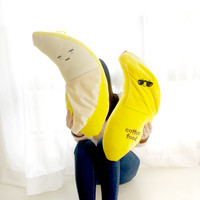 Sunglasses Banana Pillow Baby Toys Stuffed Throw Pillow Cushion for Kids Baby Bedroom Decration