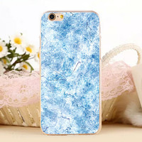 Snowflake Marble Stone Protect iPhone 5s 6 6s Plus creative case + Gift Box-131