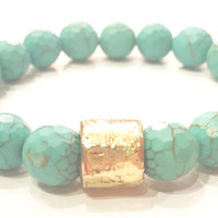 Luxe by Virtue Petite Hammer Bracelet- Turquoise