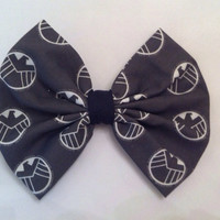 Mavel Inspired Agents of Shield Large Fabric Hair Bow