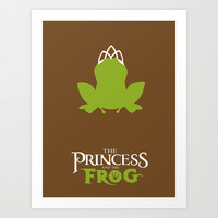 The Princess and the Frog Art Print by Citron Vert