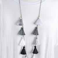 The Stevie Necklace - Grey Multi