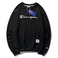 Champion Woman Men Fashion Embroidery Round Neck Top Sweater Pullover