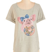ModCloth Critters Mid-length Short Sleeves Cutest Confection Tee