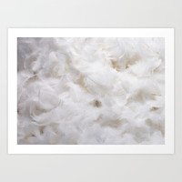 White Feathers Art Print by Essentialimage(™)