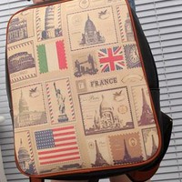 Retro Leisure American Flag Print Backpack