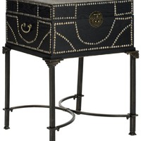 Anthony Storage End Table Dark Brown
