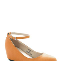 Take a Stride With Me Wedge in Mustard