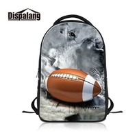 University College Backpack Dispalang American Footballl Printing Laptop Pack for Guys Custom Photos Mark  Student's Computer  for TravelingAT_63_4
